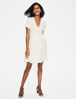 Ivory Federica Wrap Dress