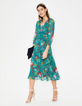 Ultramarine Carnival Floral Isabelle Midi Dress