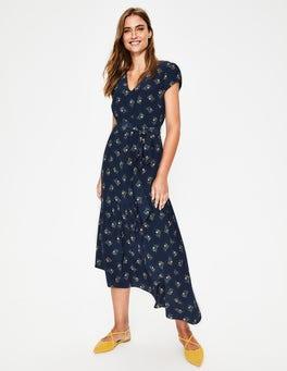 Navy Wild Posy Amy Midi Dress