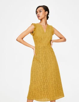 Dijon Hallie Broderie Midi Dress