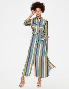 Multi Stripe Katrina Maxi Shirt Dress