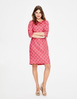 Strawberry Pineapple Lattice Kate Linen Dress