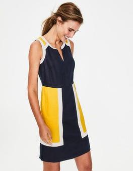 Navy Anita Linen Dress