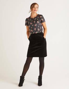 Mini-jupe Leonie en velours côtelé