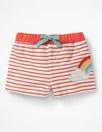 Stripy Appliqué Shorts