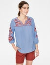 Abigail Embroidered Top by Boden