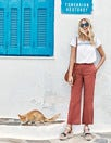 helena-cropped-chino-trousers---classic-khaki by boden