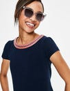 Sena Embroidered Jersey Top by Boden
