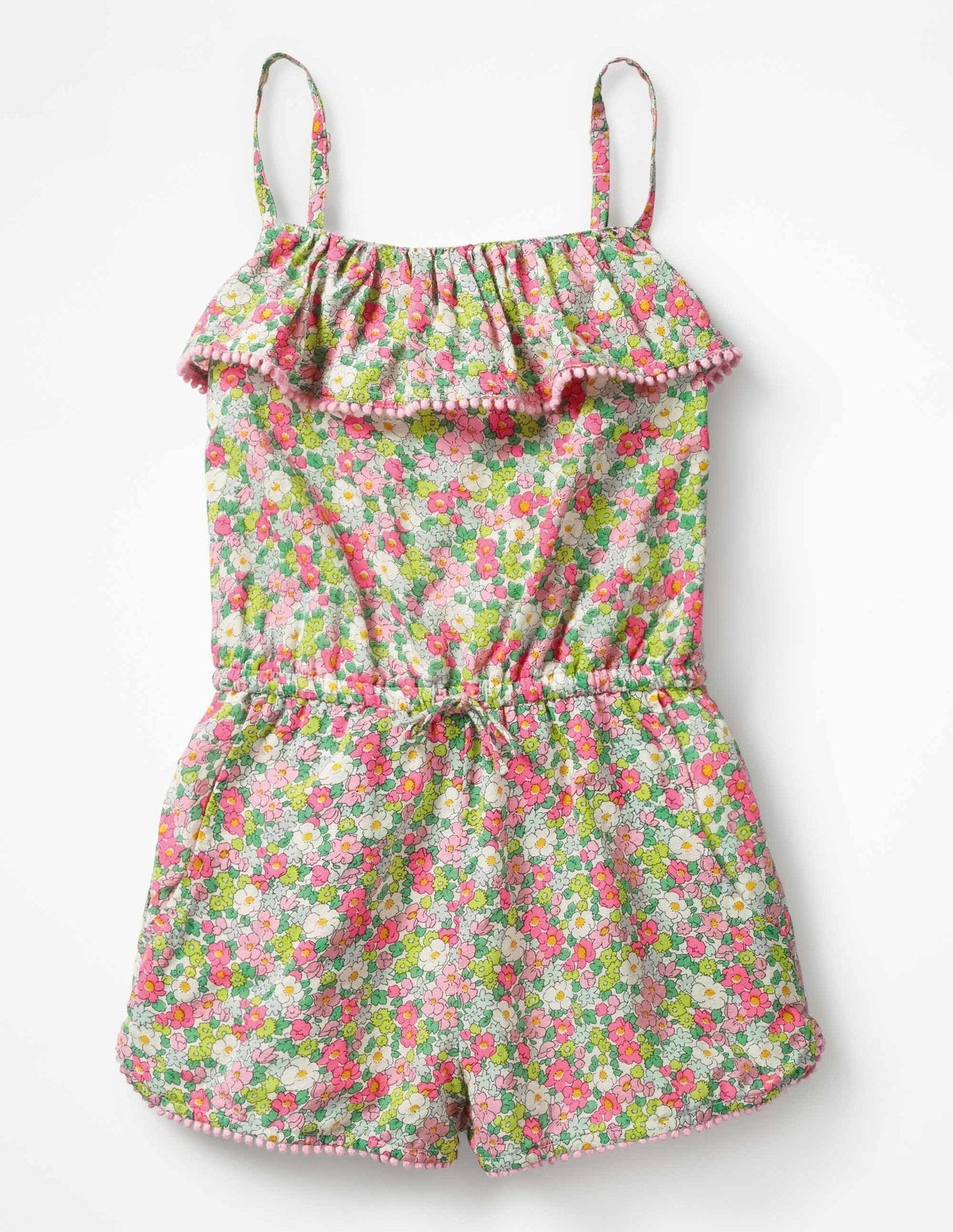 28ab88042b Strappy Frill Playsuit - Knockout Pink Vintage Floral