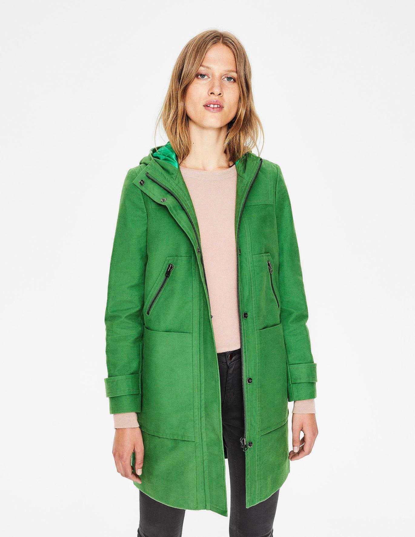 fe79635201f2 Moleskin Duffle Coat - Rich Green