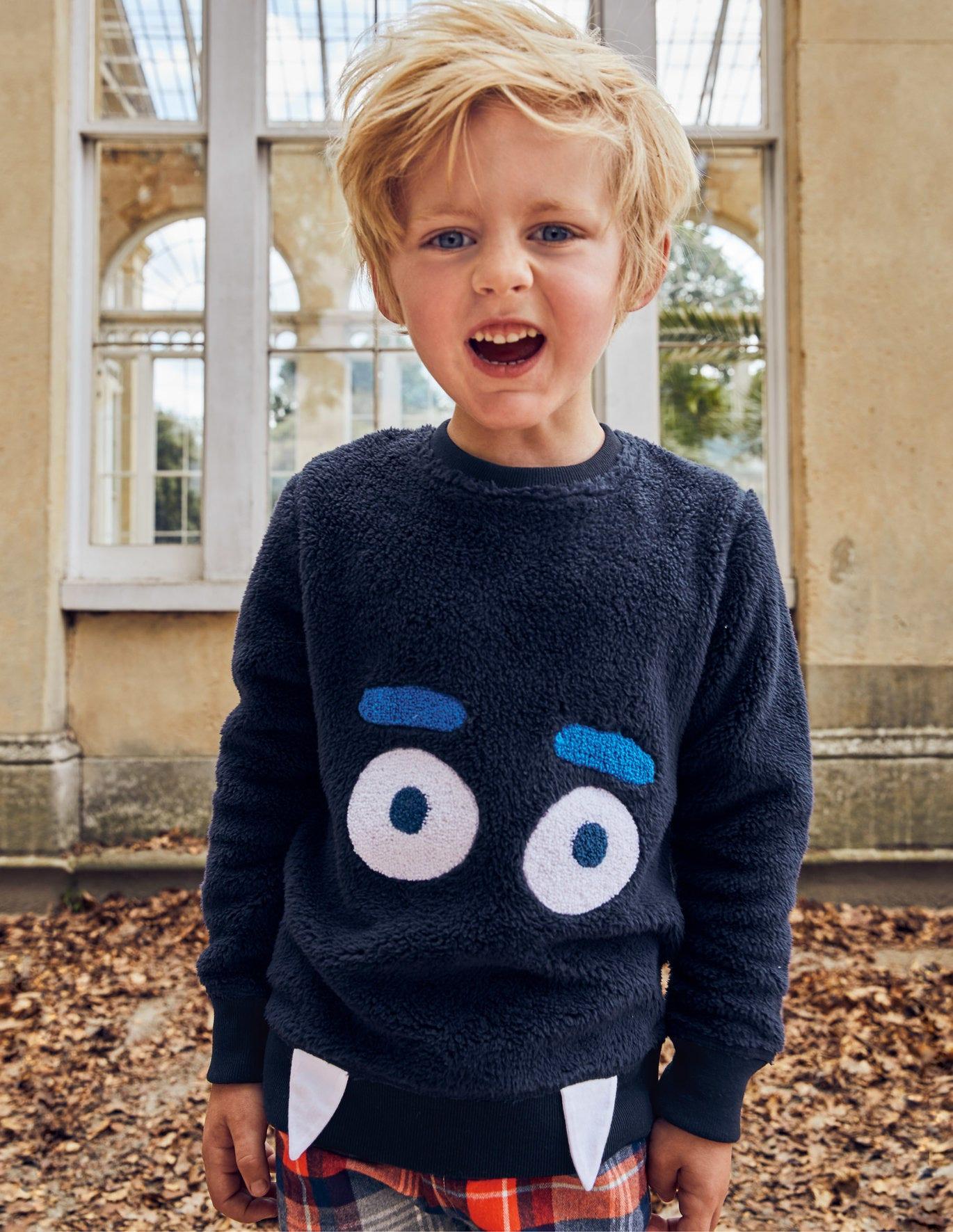 Snuggly Monster Sweatshirt - Navy Blue Monster