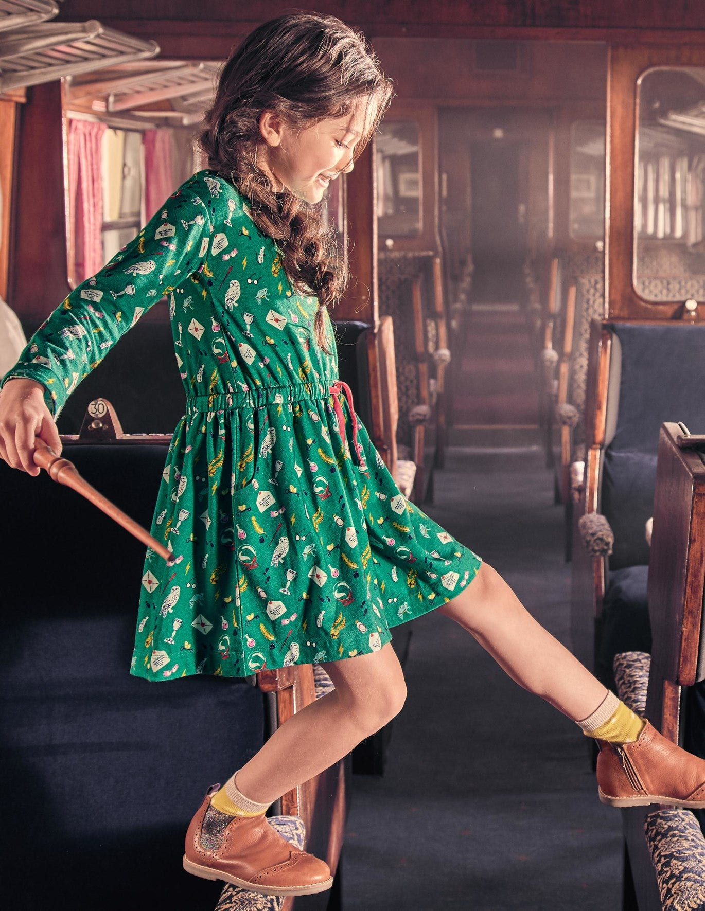 Hogwarts Printed Dress by Boden