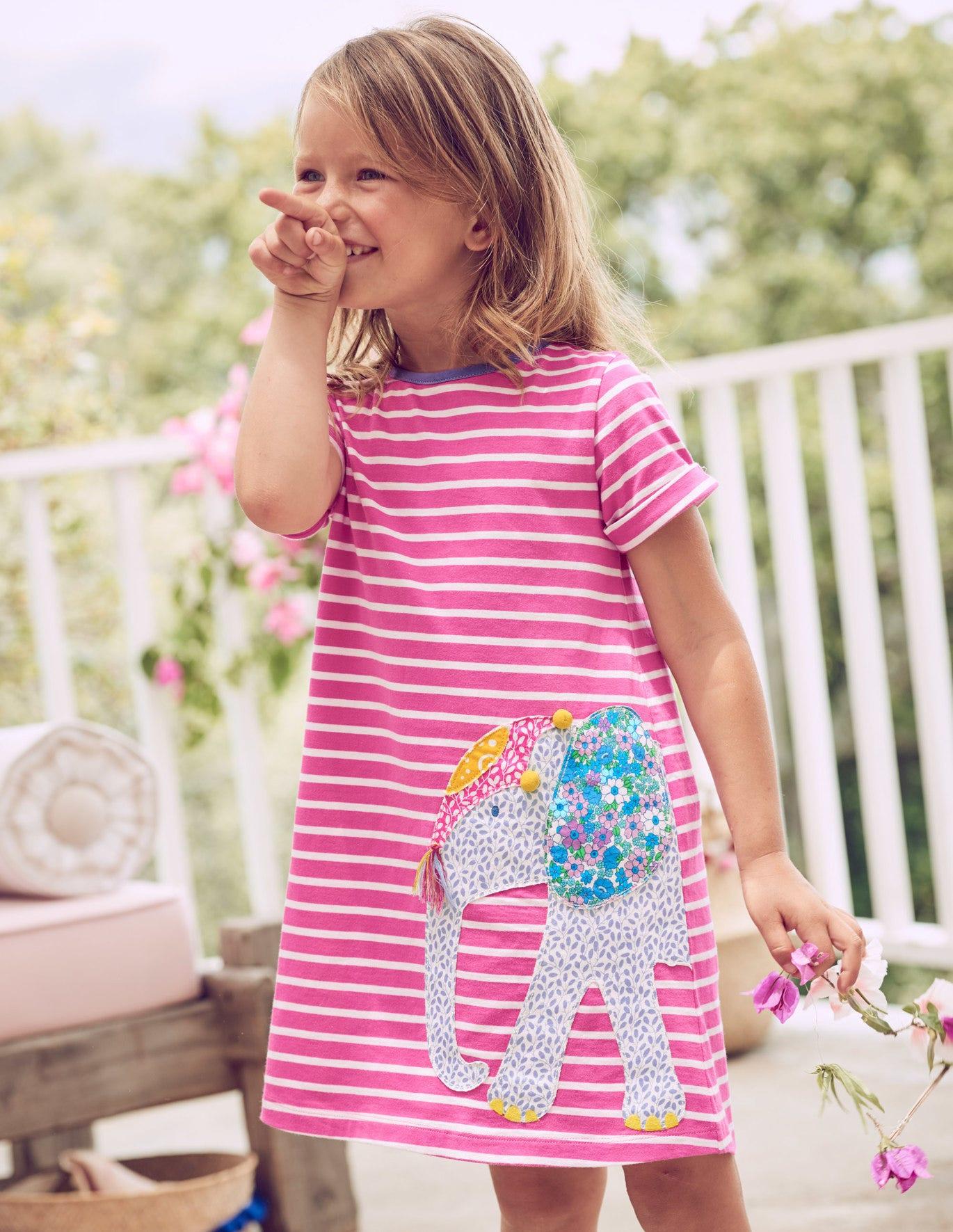 Safari Friends Applique Dress