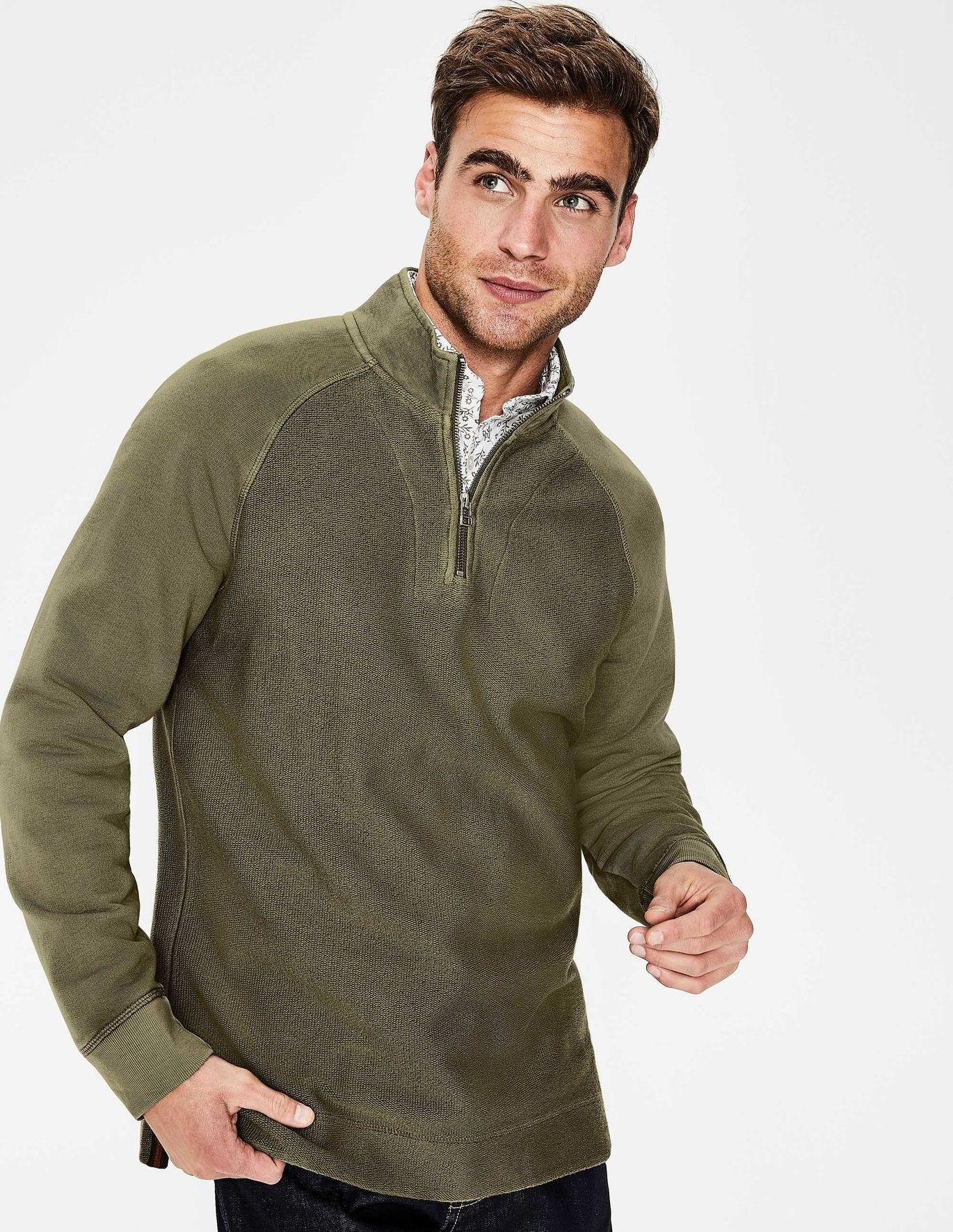 Mallory Garment-Dyed Half-Zip - Khaki