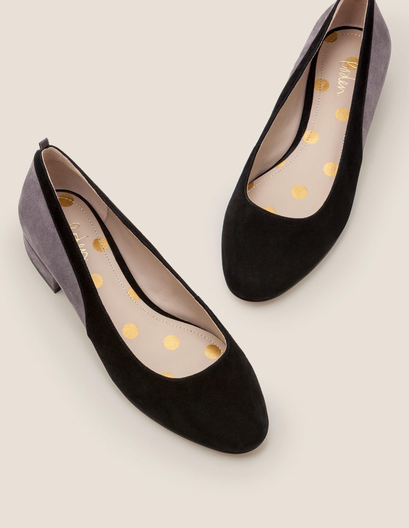Cathy Low Heels - Black/Pewter