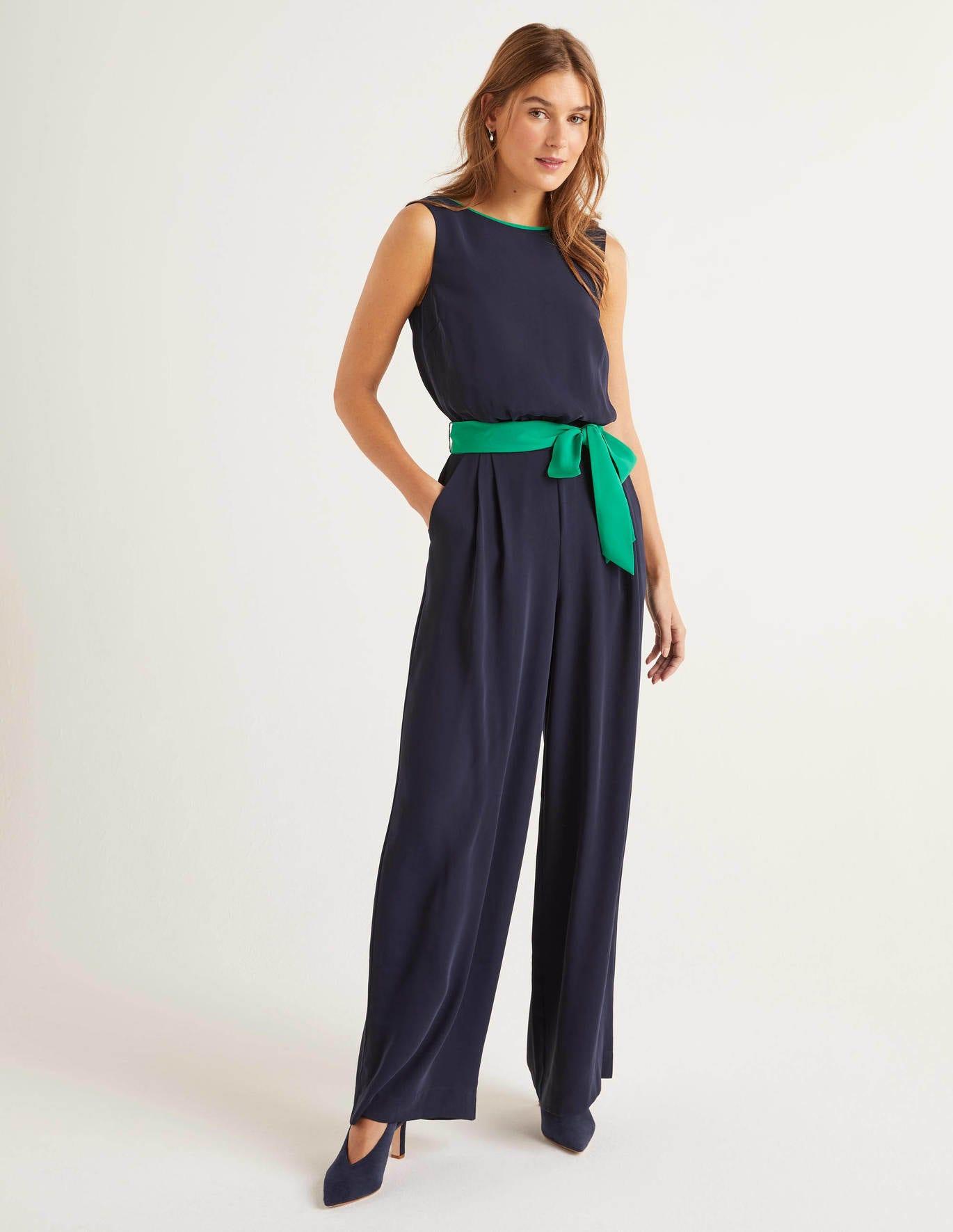 Lottie Jumpsuit - Navy/Green