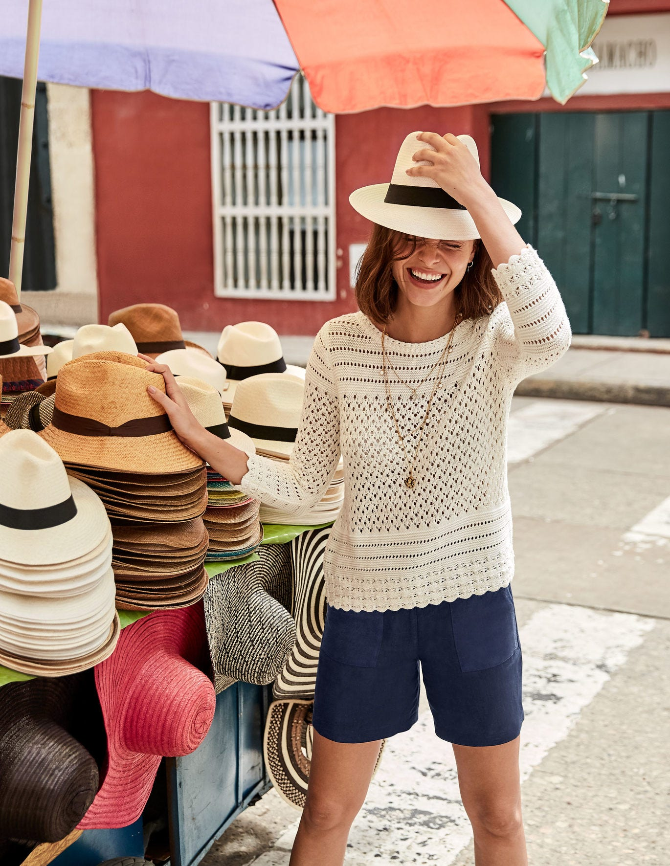 Danby Pointelle Sweater - Ivory
