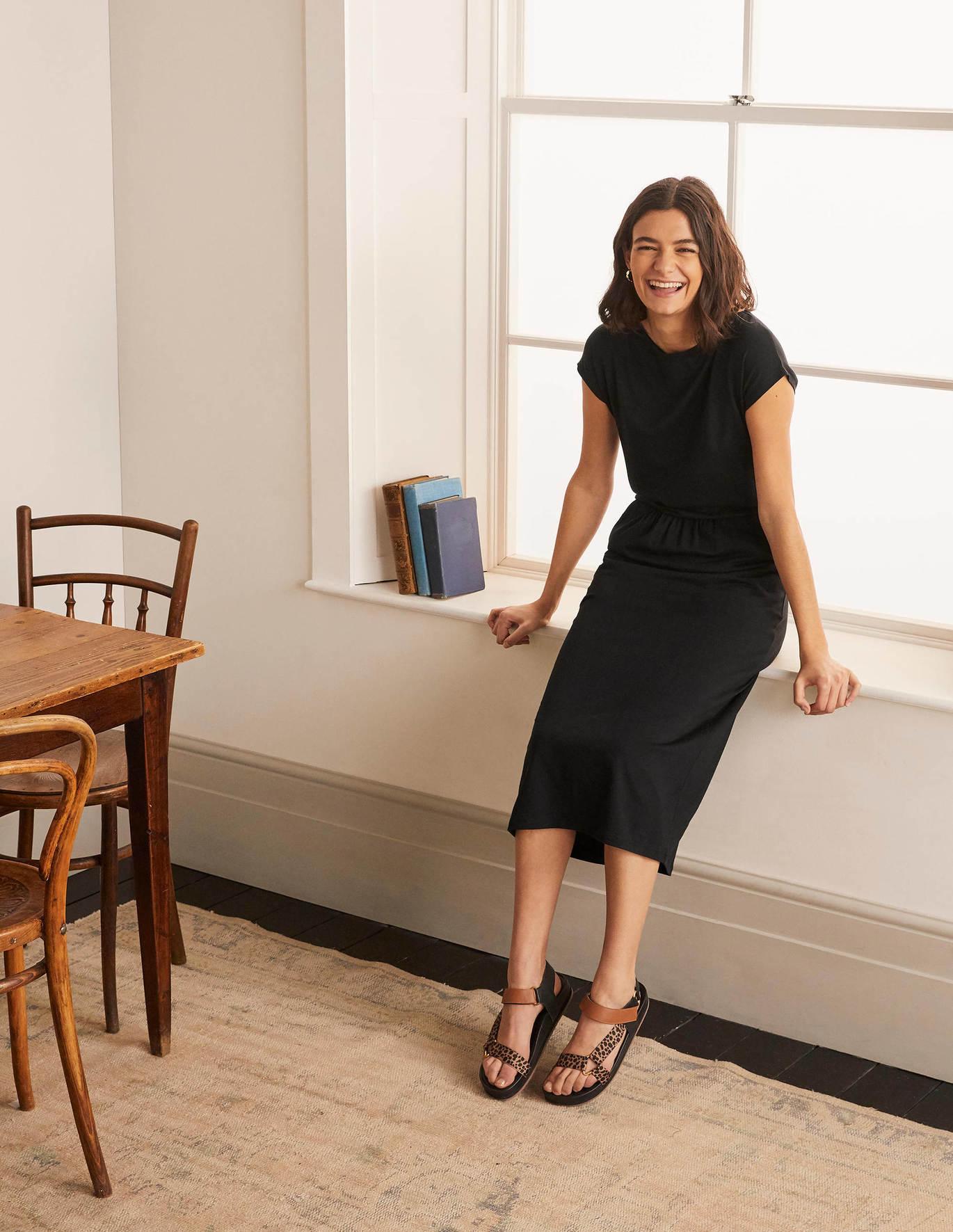 Odile T Shirt Kleid aus Jersey   Schwarz   Boden DE