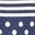 Navy, Spot Stripe