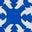 Königsblau mit Holzschnittmuster