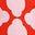 Red Pop Floral Tile