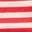 Rouge rockabilly/rayé ivoire