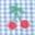 Cherry Gingham Clip Dot