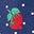 Pois fraises bleu tribord