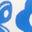 Motif maritime géométrique bleu oasis
