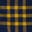 Navy Blue/Saffron Check