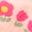 Motif ferme rose poudré Provence