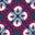 Navy/Magenta, Geometrisches Blütenmuster