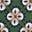 Ackerbohnengrün, Geometrisches Blütenmuster