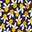 Navy/Happy Scattered Fruit