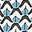 Heron Blue Sketchy Geo