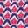 Motif géométrique esquisse rose fraise