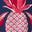 Navy Tropical Pineapple