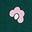 Motif Daisy Cloud vert des bois