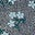 Navy/Heron Blue Daisy