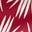 Imprimé feuille de palmier rouge