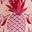 Chalky Pink Tropical Pineapple