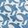 Mittelblau, Vogelmuster