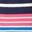 Bleu marine/poignets camélia vif