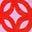 Rouge boîte aux lettres, motif maillon