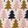 Ivoire, motif arbres géométrique