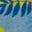 Motif Dino Island bleu roitelet
