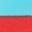 Babyblau/Leuchtendes Rot