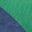 Bleu audacieux chiné/vert