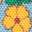 Eisblau, Vintage-Blumenmuster