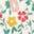 Motif floral vintage multi